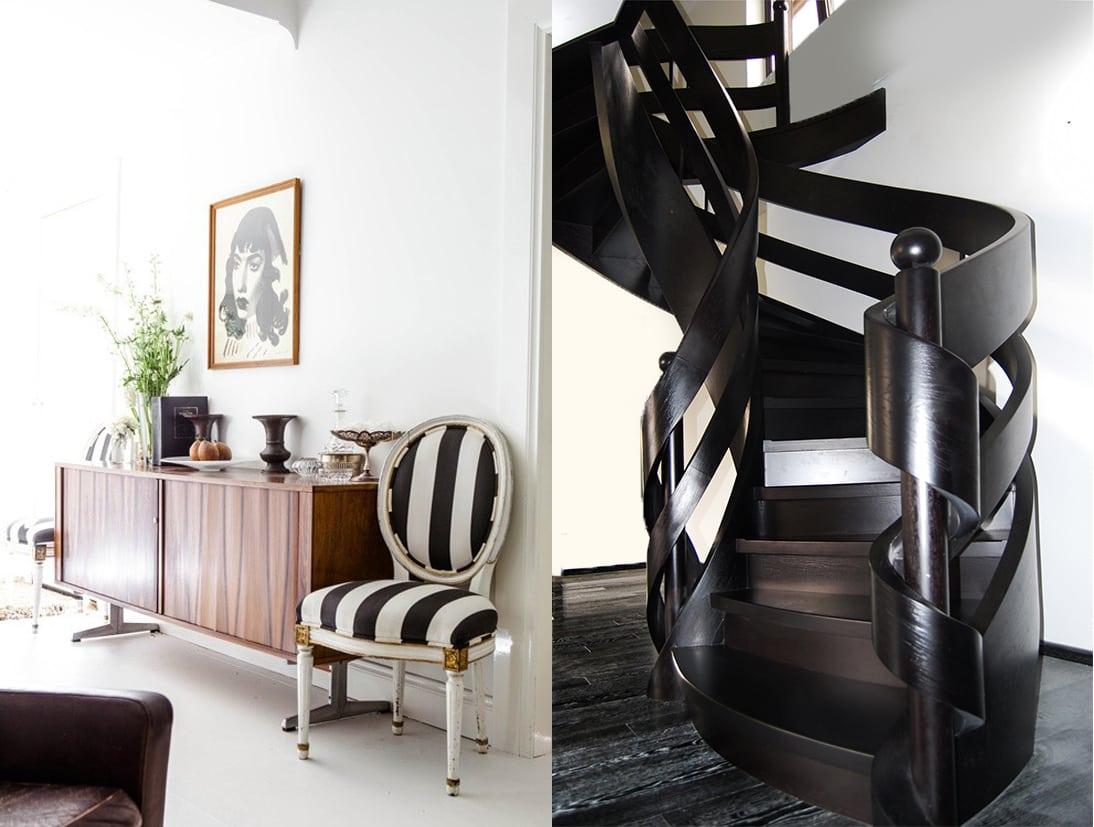 schody wstęgowe drewniane 24